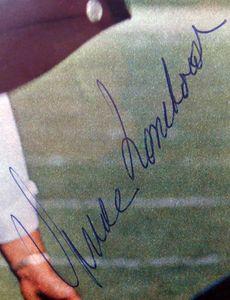 Vince Lombardi Signed Photo Closeup