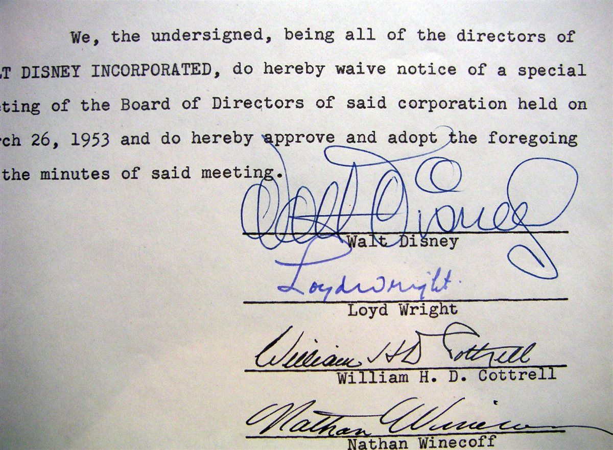 Movies And Television Walt Disney Images Psa Autographfacts