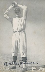Walter Johnson Signed Image