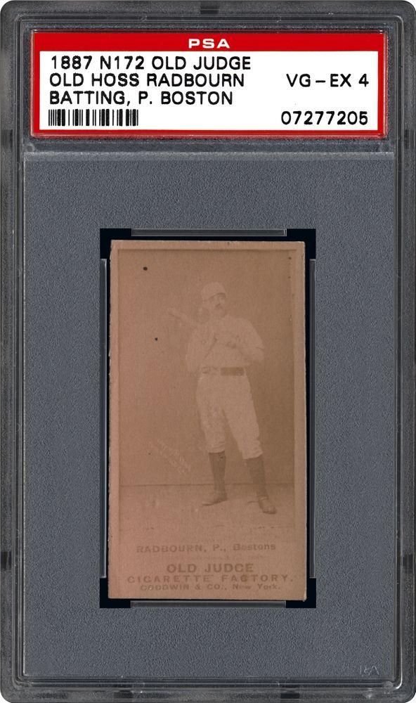 1887 Old Judge N172 Old Hoss Radbourn Batshoulder P Boston