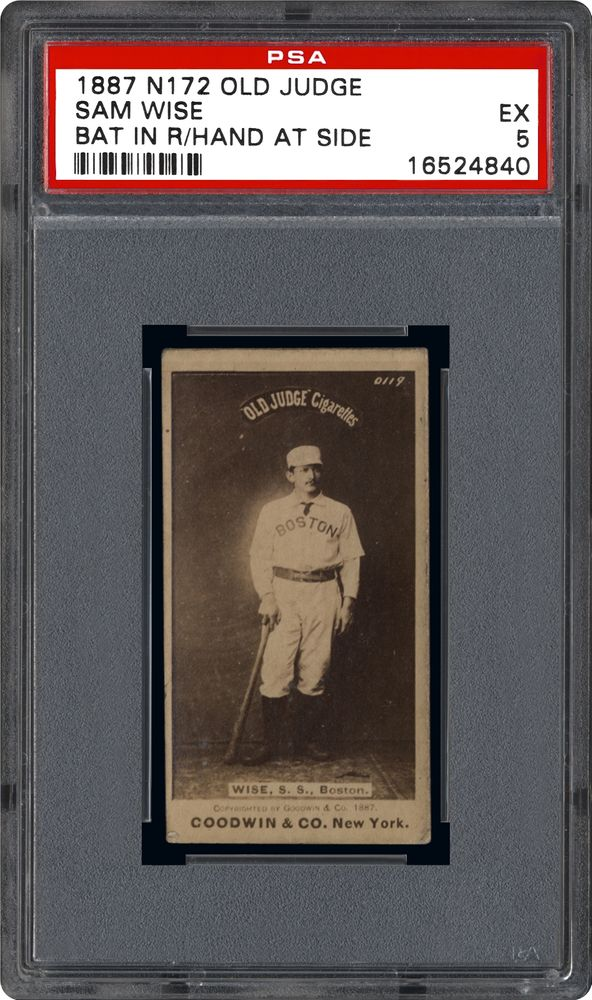 Auction Prices Realized Baseball Cards 1887 N172 Old Judge Sam Wise