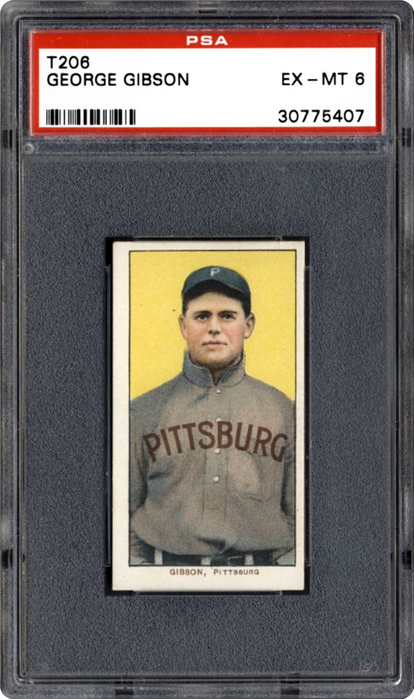 1909 1911 T206 White Border George Gibson Psa Cardfacts