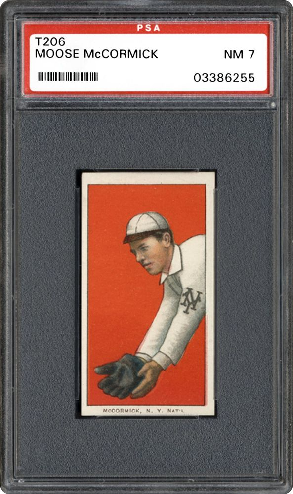 1909-1911 T206 White Border Moose McCormick | PSA CardFacts™