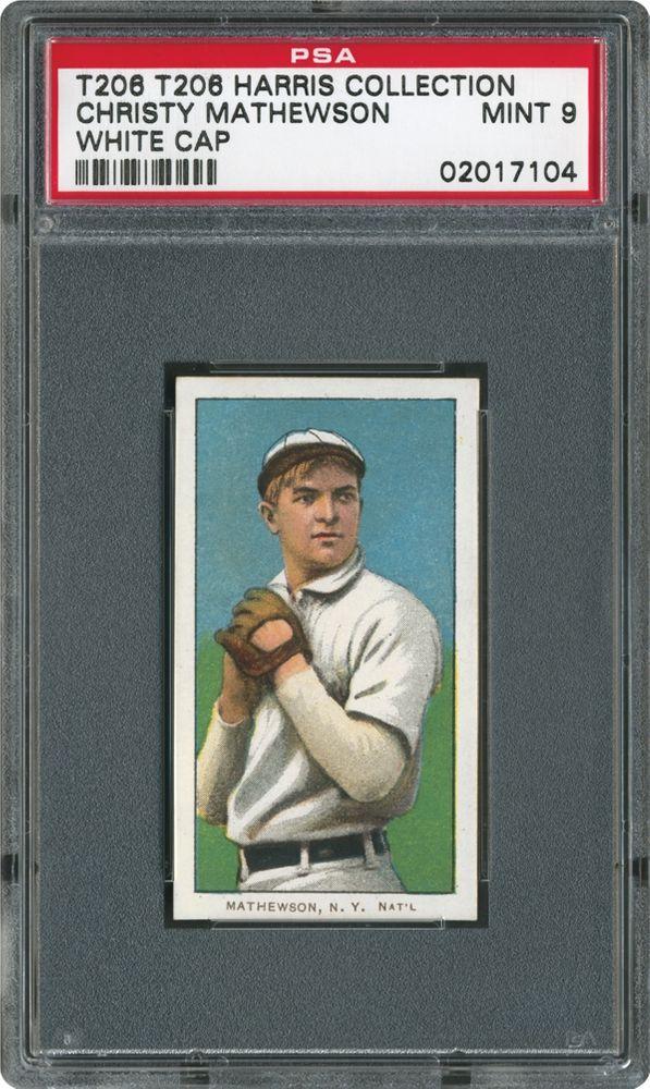1909 1911 T206 White Border Christy Mathewson White Cap