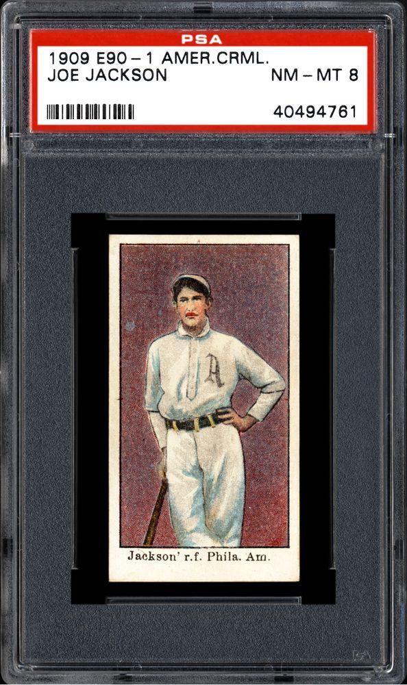1909 11 American Caramel E90 1 Joe Jackson Psa Cardfacts