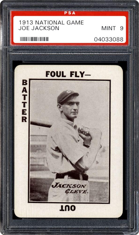 1913 National Game Joe Jackson Psa Cardfacts