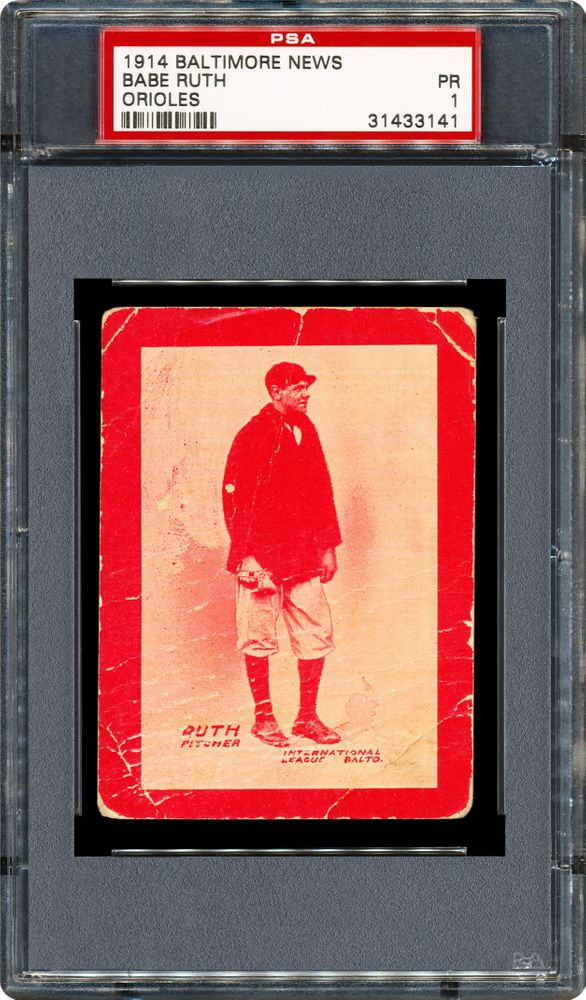 1914 Baltimore News Orioles Babe Ruth Psa Cardfacts