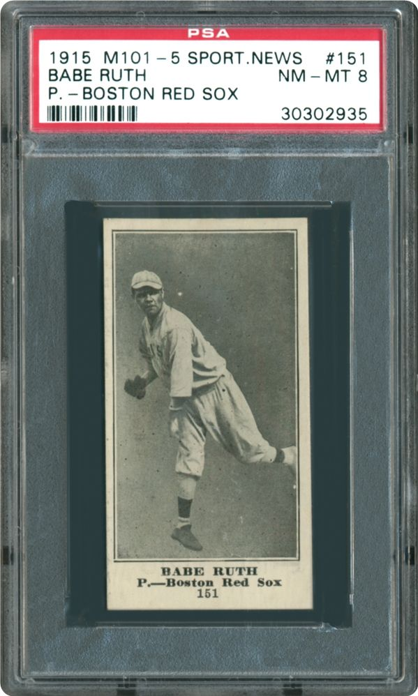 Baseball Cards 191516 M101 5 Sporting News Psa Cardfacts