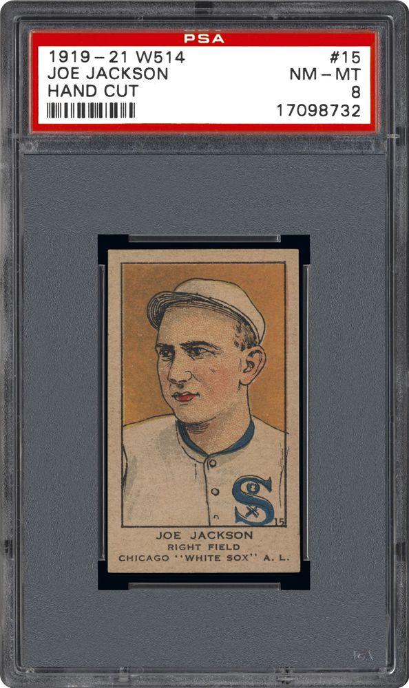 1919 21 W514 Hand Cut Joe Jackson Hand Cut Psa Cardfacts
