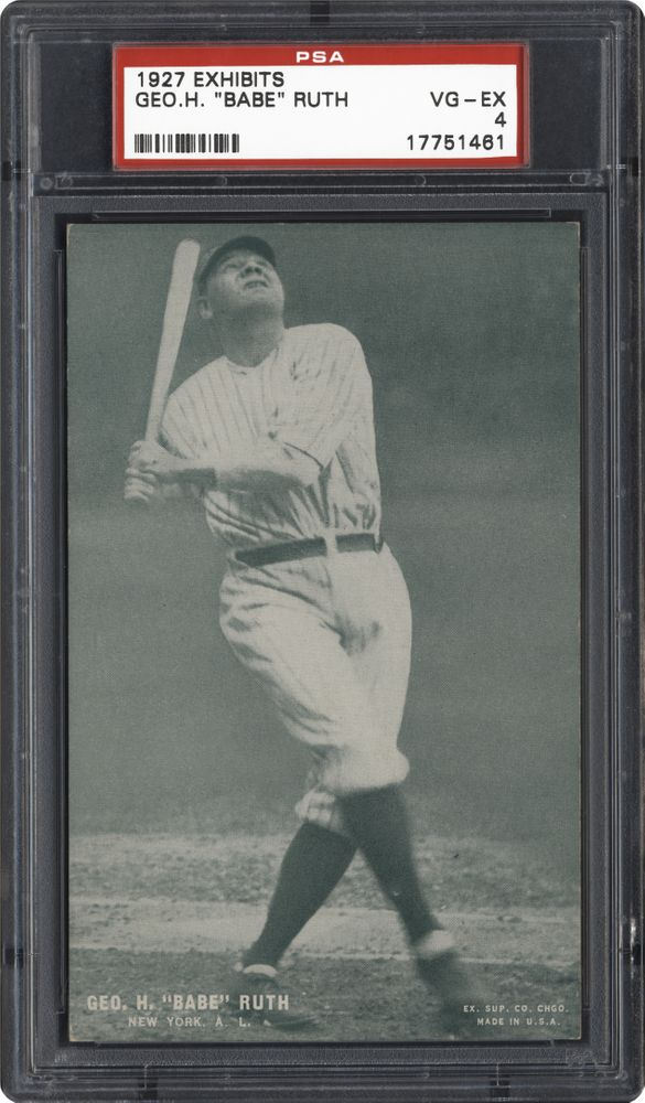 1927 Exhibits Baseball Cards Psa Smr Price Guide