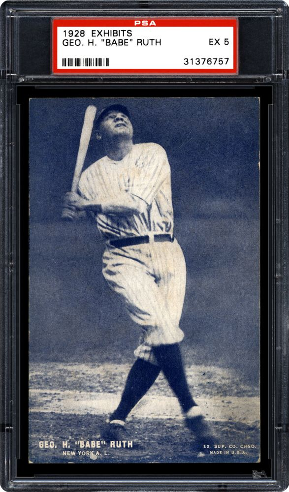 1928 Exhibits Baseball Cards Psa Smr Price Guide