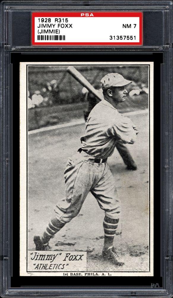 1929 30 R315 Jimmy Foxx Jimmie Psa Cardfacts