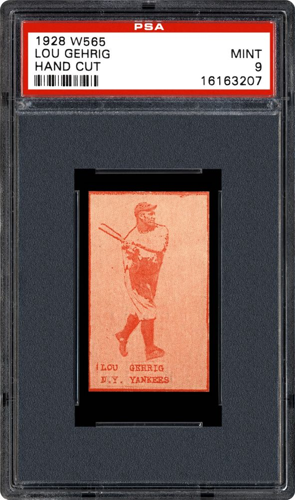 1928 W565 Lou Gehrig (Hand Cut) | PSA CardFacts™