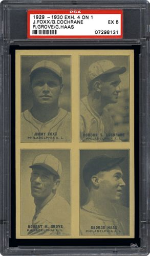 Baseball Cards 1929 1930 Quot Four On One Quot Exhibits Psa