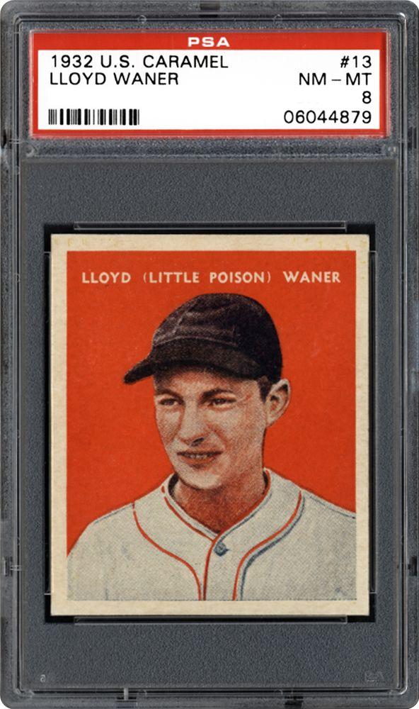 1932 Us Caramel Lloyd Waner Baseball Psa Cardfacts