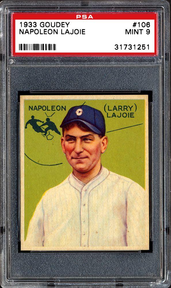 1933 Goudey Napoleon Lajoie Psa Cardfacts