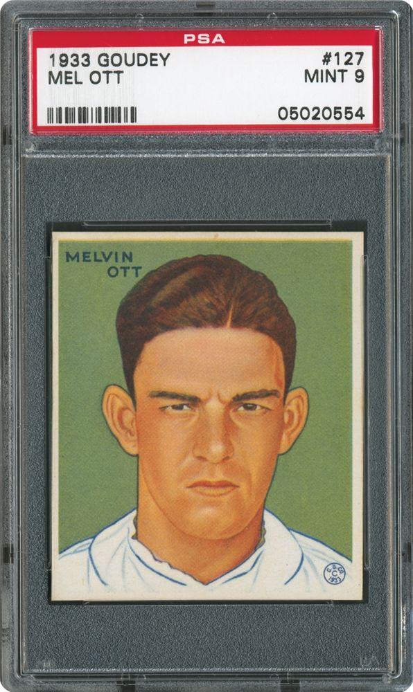 1933 Goudey Mel Ott Psa Cardfacts