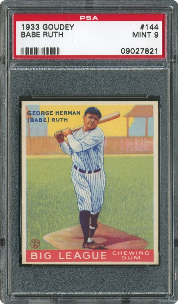 1933 Goudey Babe Ruth Psa Cardfacts