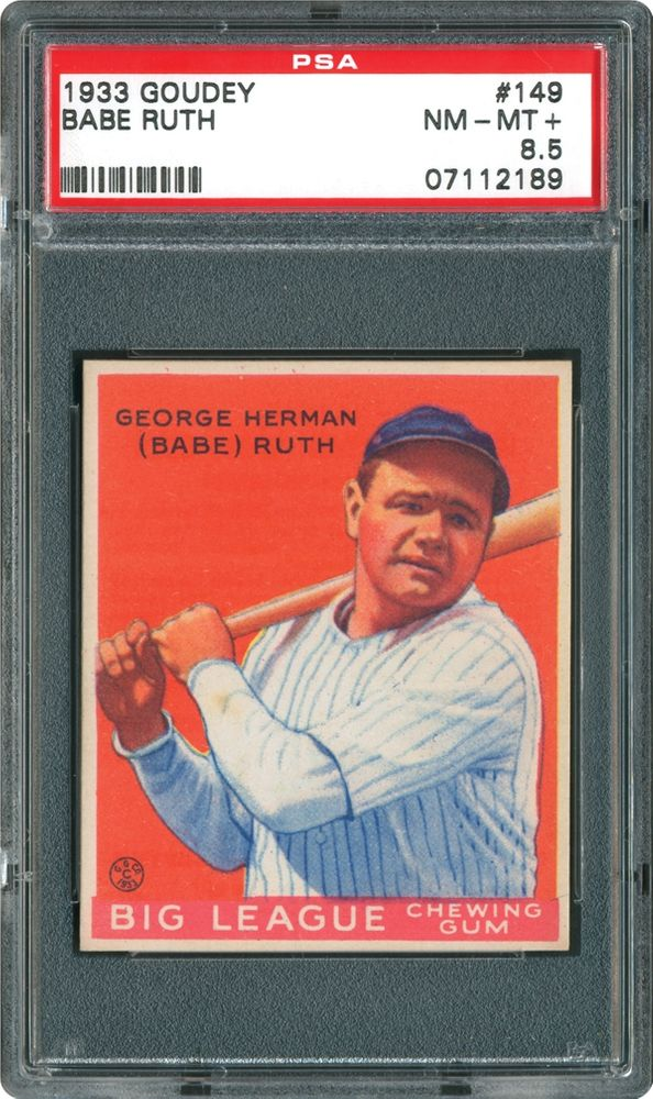 1b89f721f2d Babe Ruth - 1933 Goudey. Check out Photograde for this card