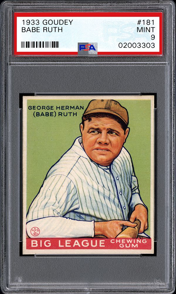 Baseball Cards 1933 Goudey Psa Cardfacts