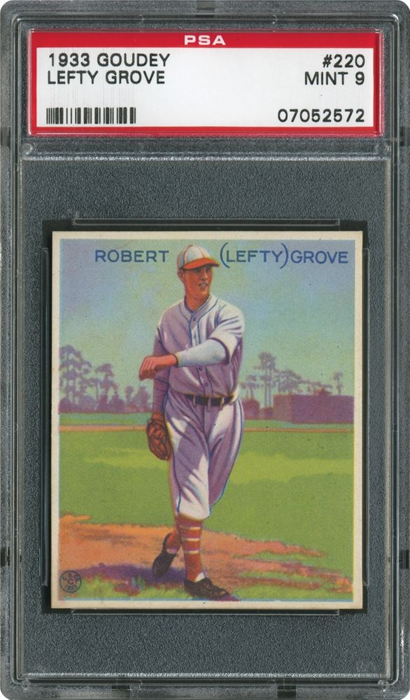 1933 Goudey Lefty Grove Psa Cardfacts