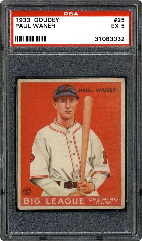 1933 Goudey Paul Waner Psa Cardfacts
