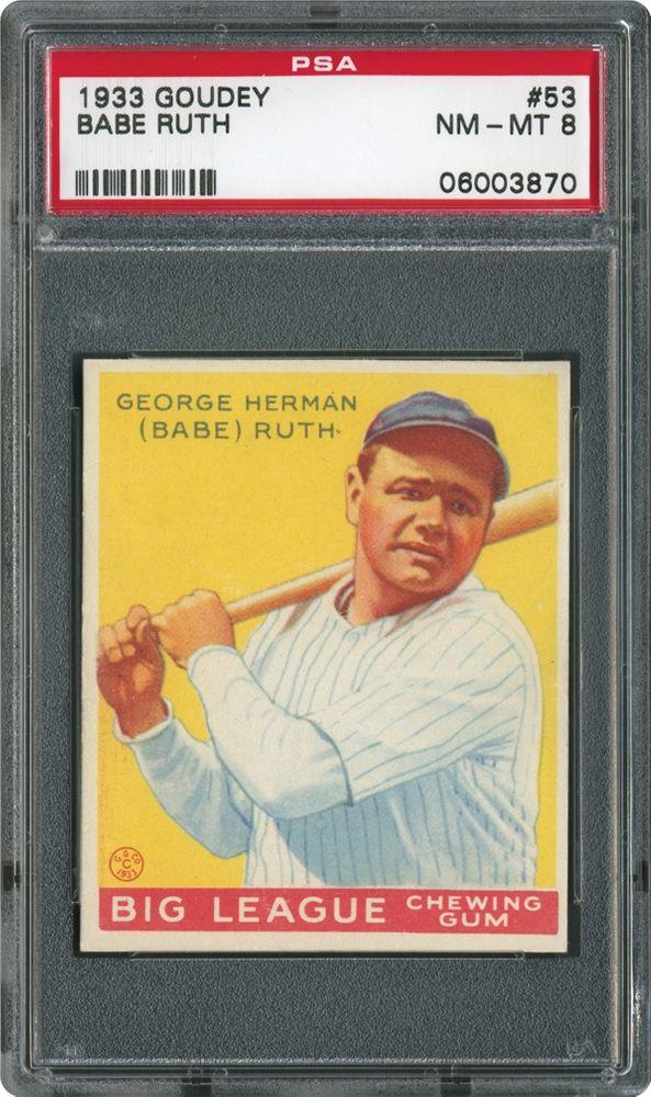 de05abbf862 Babe Ruth - 1933 Goudey