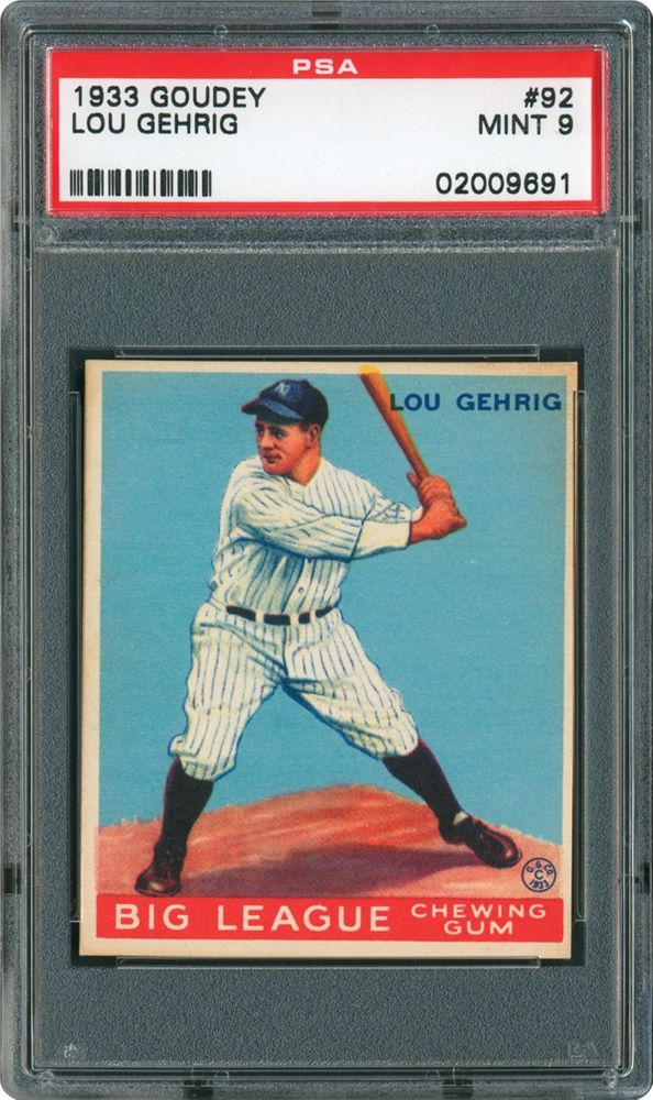 1933 Goudey Lou Gehrig Psa Cardfacts