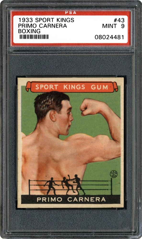 1933 Goudey Sport Kings Primo Carnera (Boxing)   PSA CardFacts™