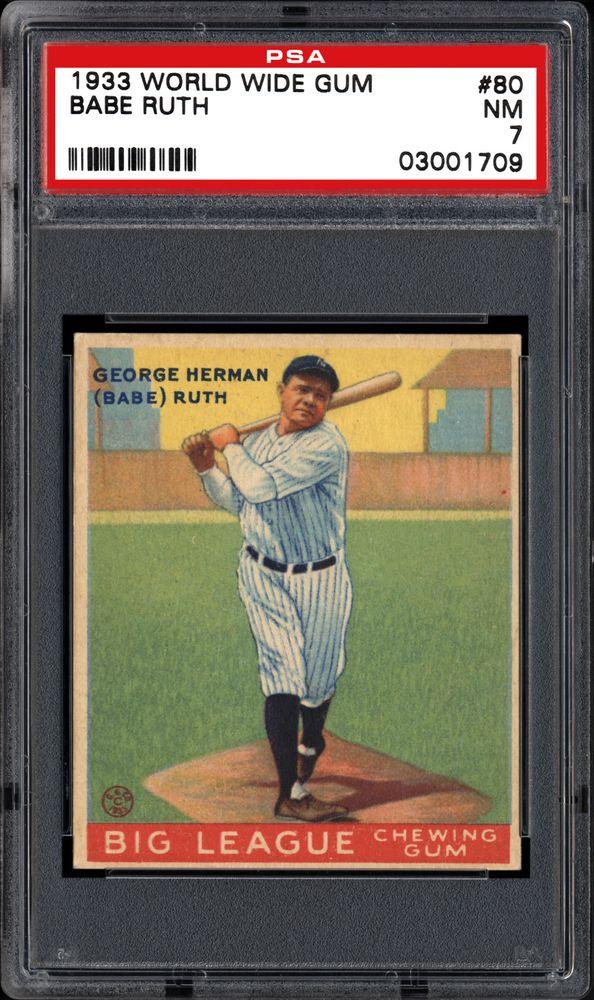 Baseball Cards 1933 World Wide Gum Psa Cardfacts