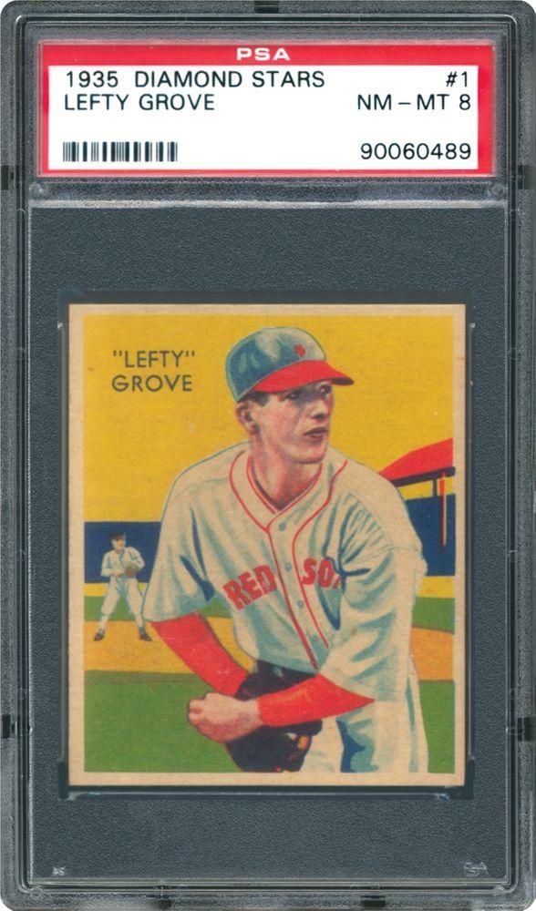 1934 Diamond Stars Lefty Grove Psa Cardfacts