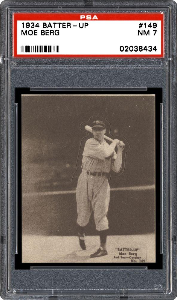 1934 36 Batter Up R318 Moe Berg Psa Cardfacts