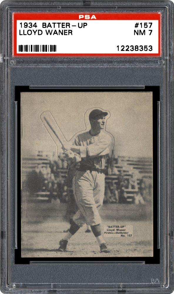 1934 36 Batter Up R318 Lloyd Waner Psa Cardfacts