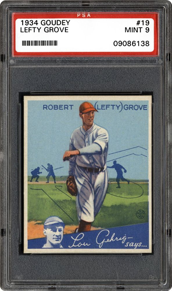 1934 Goudey Lefty Grove Psa Cardfacts