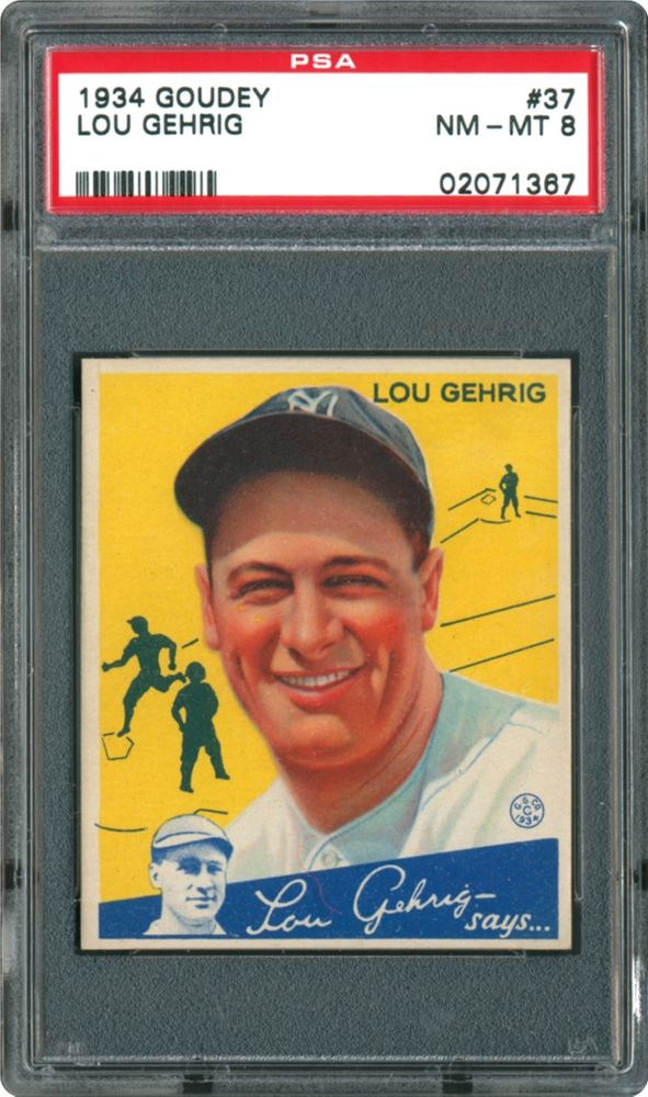 Baseball Cards 1934 Goudey Psa Cardfacts