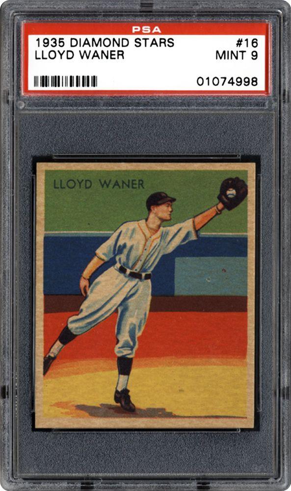 1934 1936 Diamond Stars Lloyd Waner Psa Cardfacts