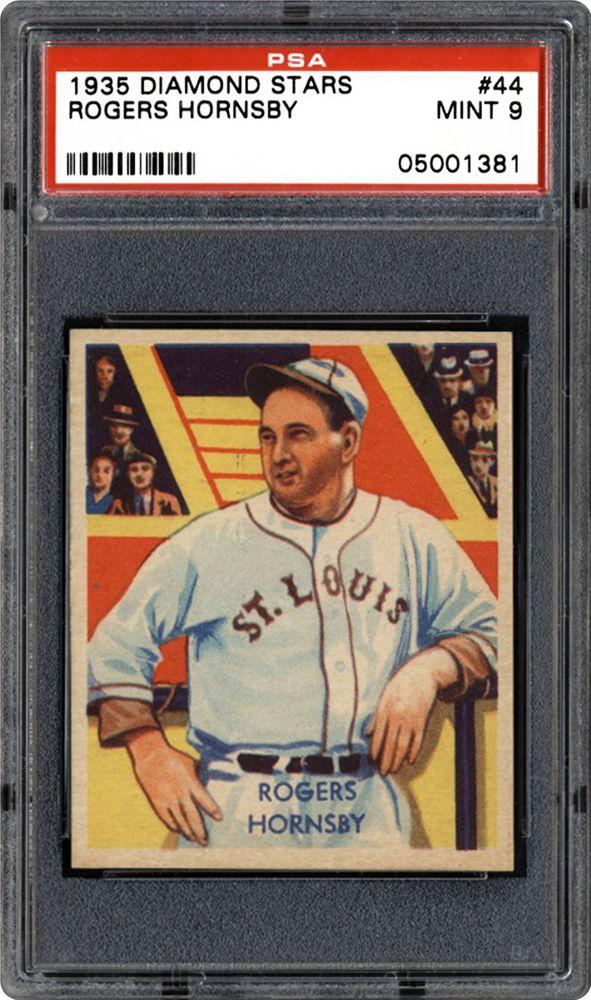 Baseball Cards 1934 1936 Diamond Stars Psa Cardfacts