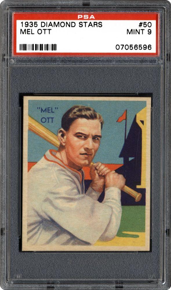 Auction Prices Realized Baseball Cards 1935 Diamond Stars Mel Ott