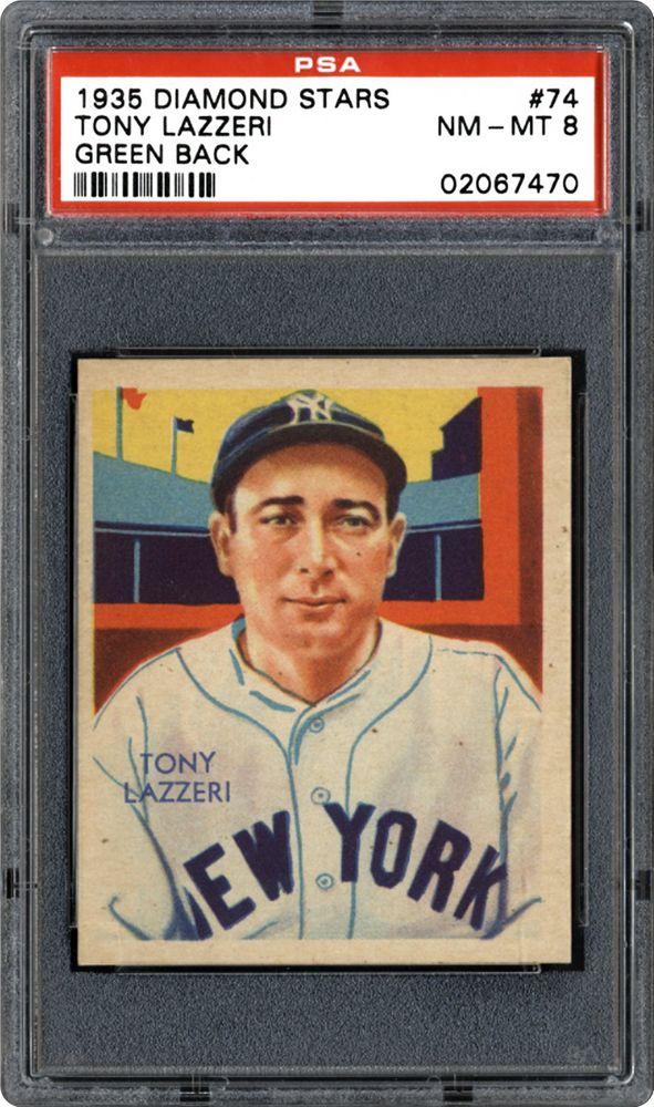 1934 1936 Diamond Stars Tony Lazzeri Green Back Psa Cardfacts