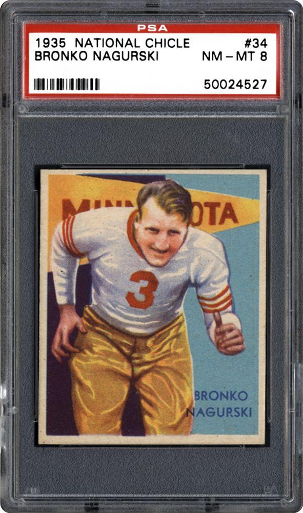 1935 National Chicle Bronko Nagurski | PSA CardFacts™
