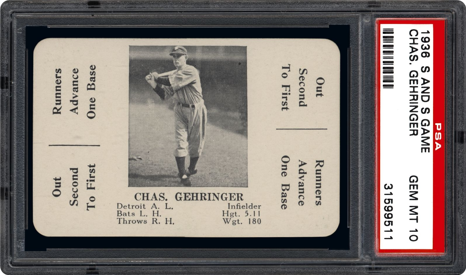 Chas. Gehringer - 1936 S and S Game