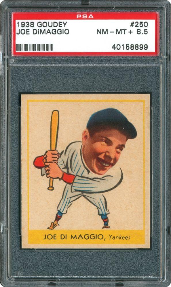 1938 Goudey Joe Dimaggio Psa Cardfacts