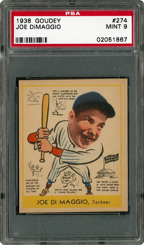 Baseball Cards 1938 Goudey Psa Cardfacts