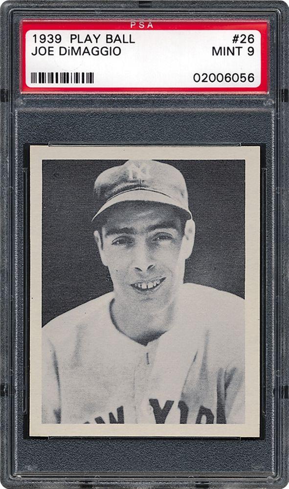 1939 Play Ball Joe Dimaggio Psa Cardfacts
