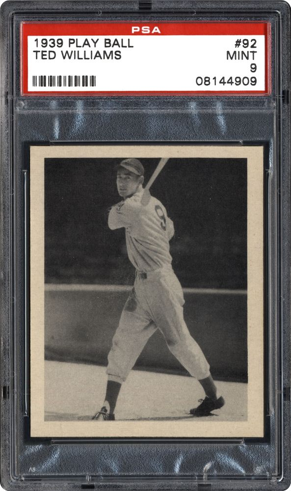 Image result for ted williams baseball  1939 rookie card