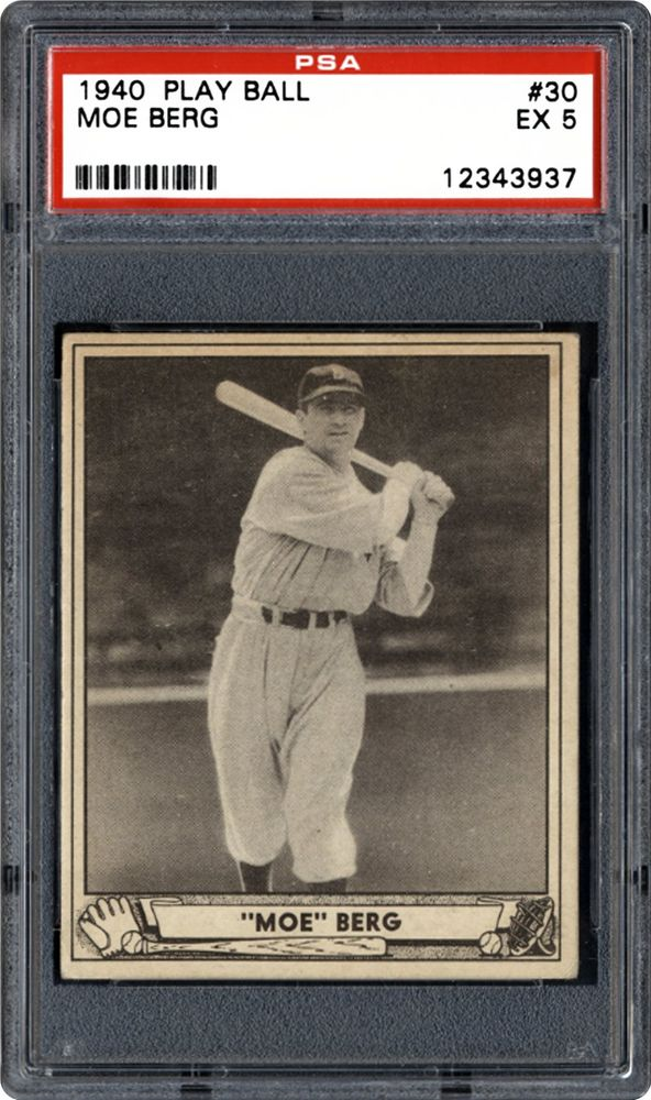 1940 Play Ball Moe Berg Psa Cardfacts