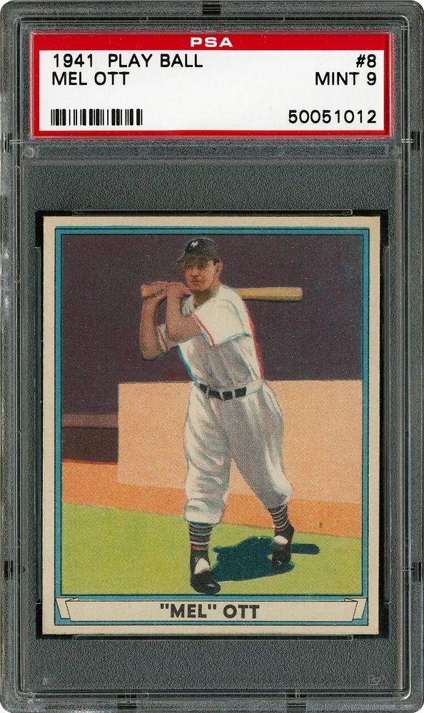 Auction Prices Realized Baseball Cards 1941 Play Ball Mel Ott