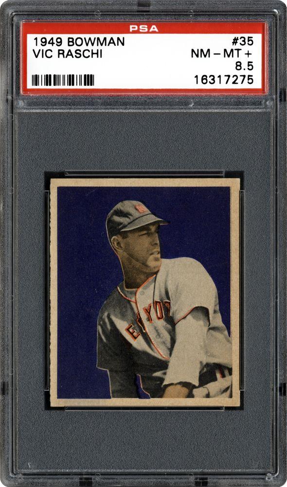 1949 Bowman Vic Raschi