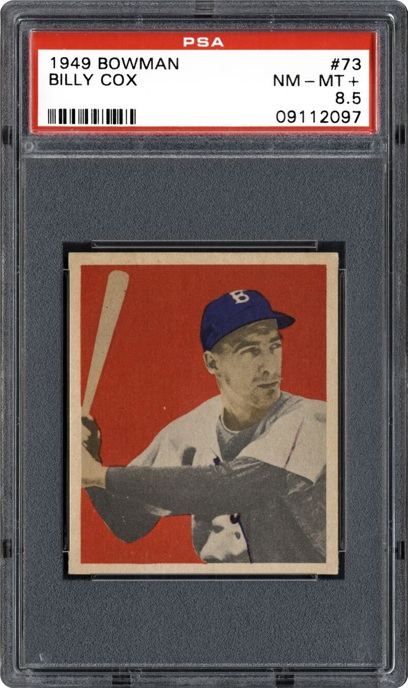 1949 Bowman Billy Cox Psa Cardfacts