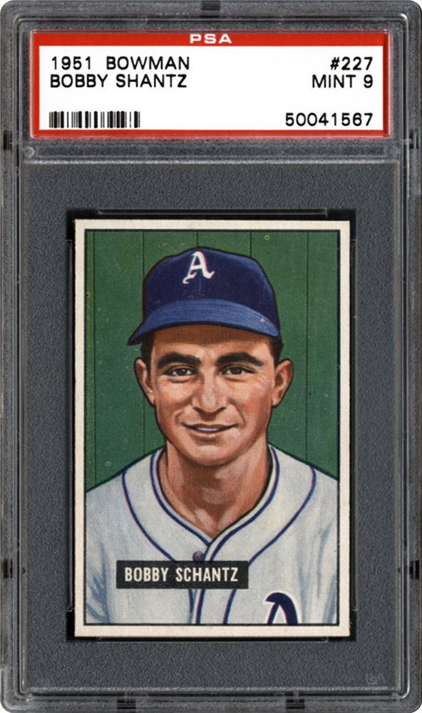 1951 Bowman Bobby Shantz Psa Cardfacts